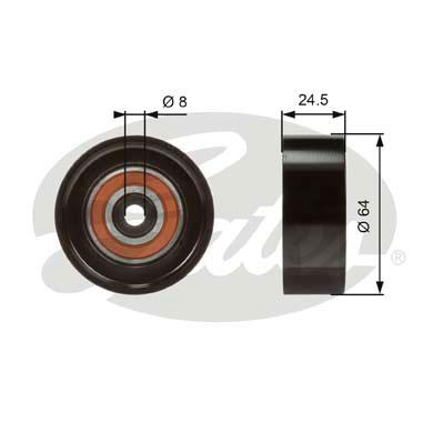 Galet enrouleur accessoires GATES T38097 (X1)