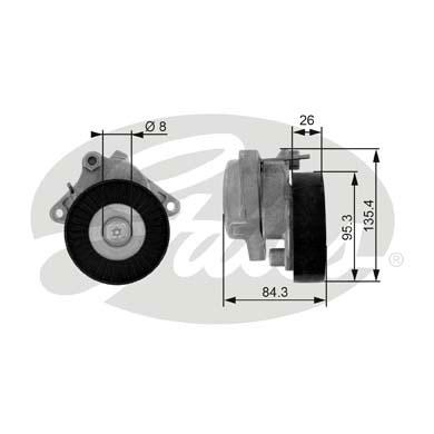 Galet tendeur accessoires GATES T38174 (X1)