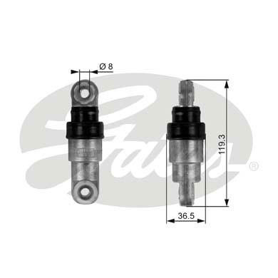 Amortisseur de tendeur courroie accessoires GATES T38218 (X1)
