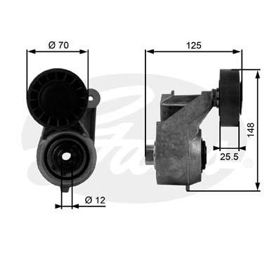 Galet tendeur accessoires GATES T38263 (X1)