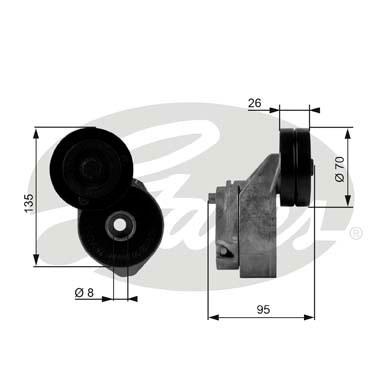 Galet tendeur accessoires GATES T38430 (X1)