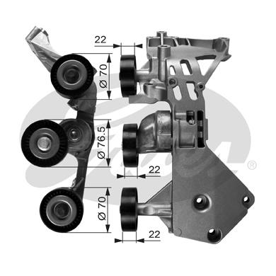 Galet tendeur accessoires GATES T38465 (X1)