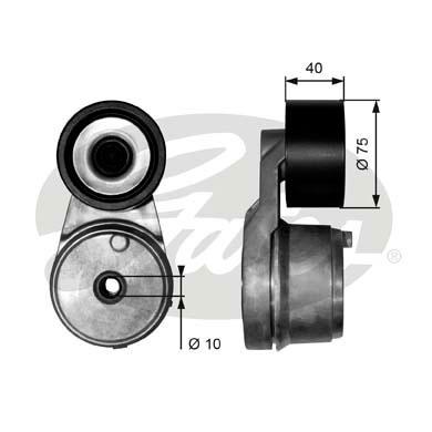 Tendeur de courroie d'accessoires GATES T38540 (X1)