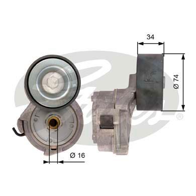 Tendeur de courroie d'accessoires GATES T38559 (X1)
