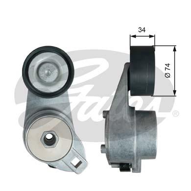 Tendeur de courroie d'accessoires GATES T38580 (X1)