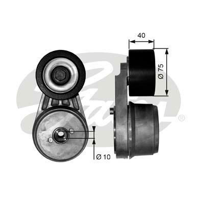 Tendeur de courroie d'accessoires GATES T38642 (X1)