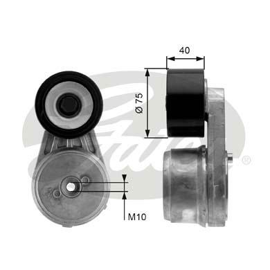 Tendeur de courroie d'accessoires GATES T38647 (X1)