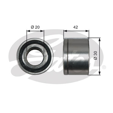 Galet tendeur accessoires GATES T38679 (X1)
