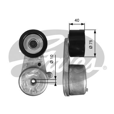 Tendeur de courroie d'accessoires GATES T38720 (X1)