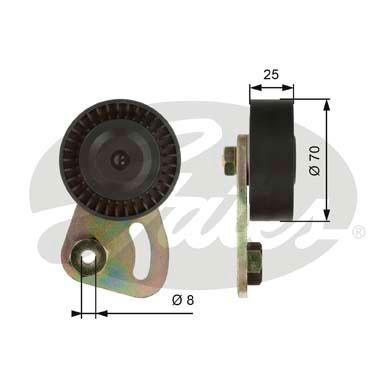 Galet tendeur accessoires GATES T39019 (X1)