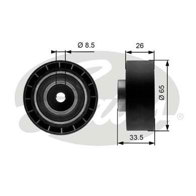 Galet tendeur accessoires GATES T39057 (X1)