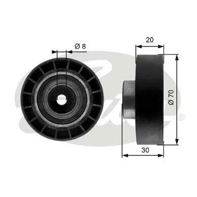 Galet tendeur accessoires GATES T39059 (X1)