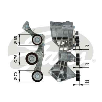 Galet tendeur accessoires GATES T39064 (X1)