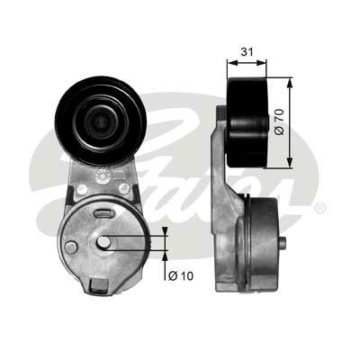 Galet courroie accessoires GATES T39065 (X1)