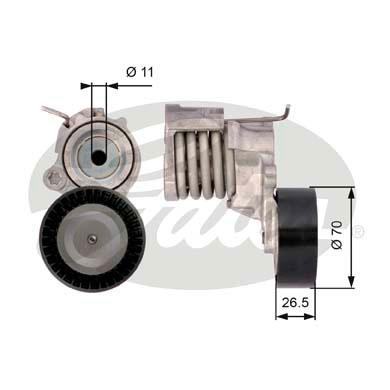Galet courroie accessoires GATES T39115 (X1)