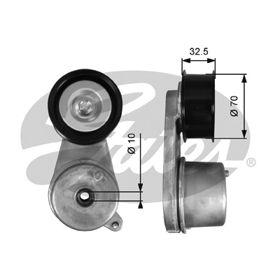 Galet courroie accessoires GATES T39129 (X1)