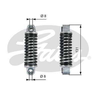 Amortisseur de tendeur courroie accessoires GATES T39151 (X1)