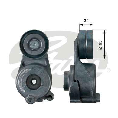 Galet tendeur accessoires GATES T39208 (X1)