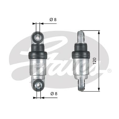 Amortisseur de tendeur courroie accessoires GATES T39215 (X1)