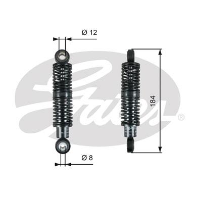 Amortisseur de tendeur courroie accessoires GATES T39265 (X1)