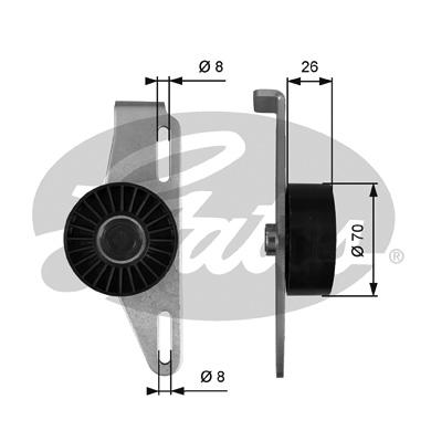 Galet tendeur accessoires GATES T39393 (X1)