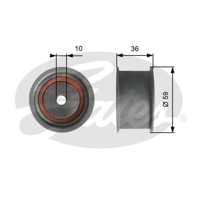 Galet courroie distribution GATES T41227 (X1)