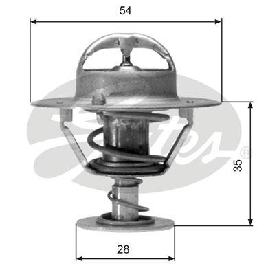 Thermostat/calorstat GATES TH04277 (X1)