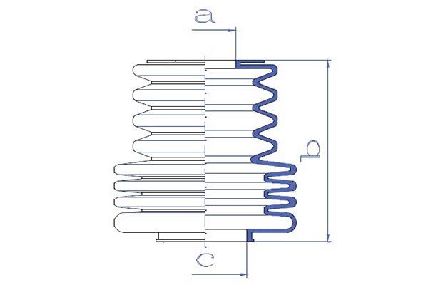 Soufflets direction - cremaillere DA SILVA K5002 (X1)