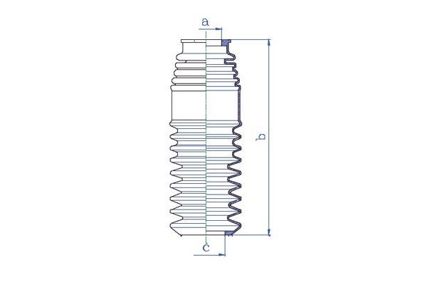 Soufflets direction - cremaillere DA SILVA K5319 (X1)