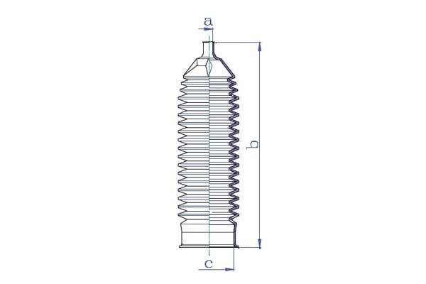 Soufflets direction - cremaillere DA SILVA K5355 (X1)