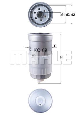 Filtre a carburant KNECHT KC 69 (X1)