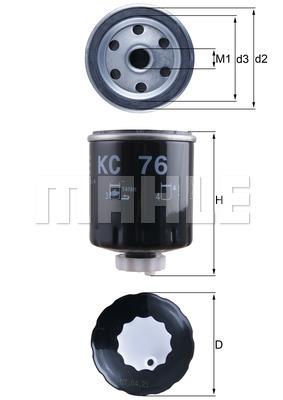Filtre a carburant KNECHT KC 76 (X1)
