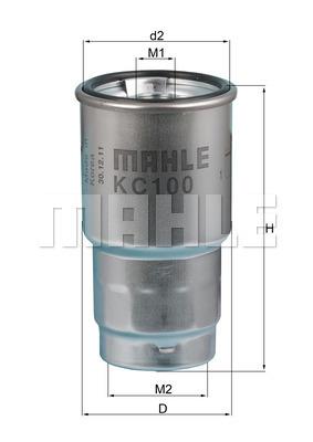 Filtre a carburant KNECHT KC 100D (X1)