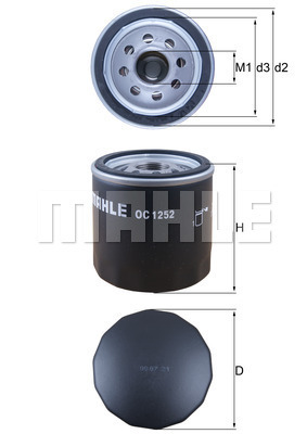 Filtre a huile KNECHT OC 1252 (X1)