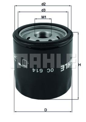 Filtre a huile KNECHT OC 614 (X1)