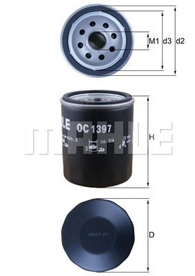 Filtre a huile KNECHT OC 1397 (X1)
