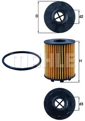 Filtre a huile KNECHT OX 371D (X1)