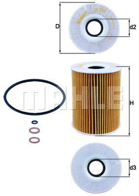 Filtre a huile KNECHT OX 254D3 (X1)