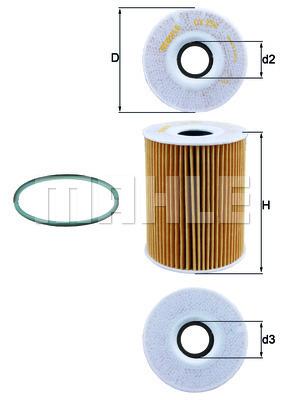 Filtre a huile KNECHT OX 254D4 (X1)
