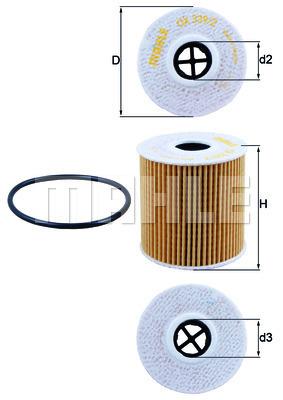 Filtre a huile KNECHT OX 339/2D (X1)
