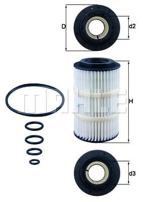 Filtre a huile KNECHT OX 345/7D (X1)