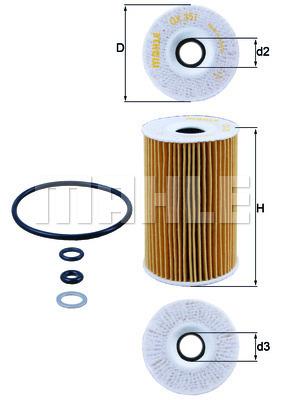 Filtre a huile KNECHT OX 351D (X1)