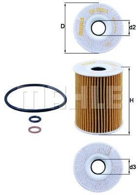 Filtre a huile KNECHT OX 355/3D (X1)