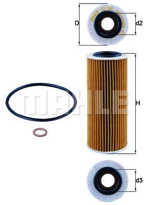 Filtre a huile KNECHT OX 368D1 (X1)