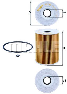 Filtre a huile KNECHT OX 380D (X1)