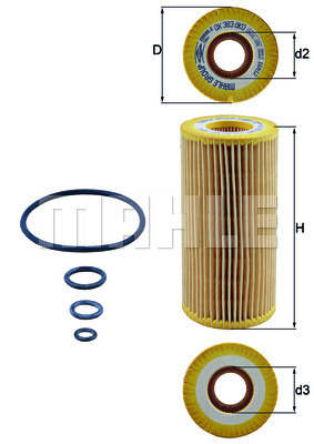 Filtre a huile KNECHT OX 383D (X1)
