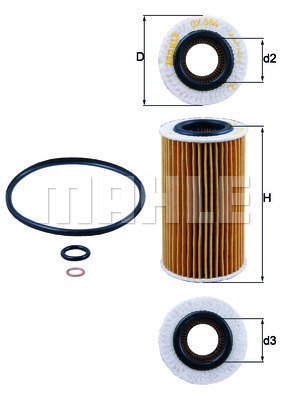 Filtre a huile KNECHT OX 384D (X1)