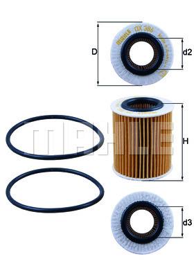 Filtre a huile KNECHT OX 386D (X1)