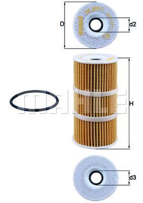 Filtre a huile KNECHT OX 389/1D (X1)