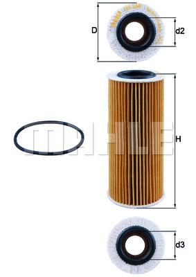 Filtre a huile KNECHT OX 368D2 (X1)